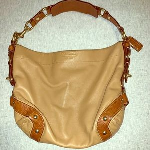 Coach Carly Tan Leather Hobo bag